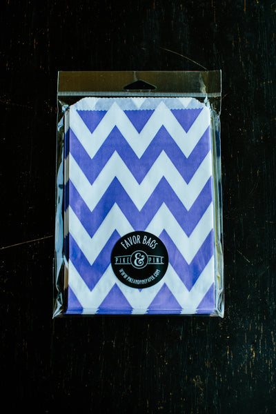 Purple Chevron Favor Bag (set of 20)