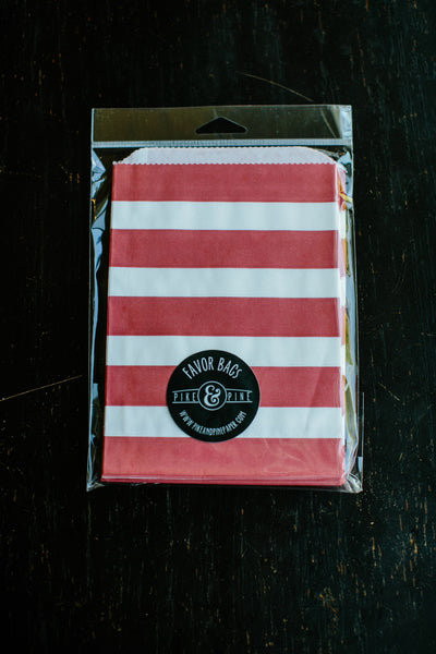 Red Stripe Favor Bag (set of 20)