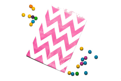 Pink Chevron Favor Bag (set of 20)