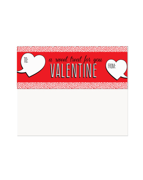 Sweet Treat Valentines Tags & Bags (Set of 15)
