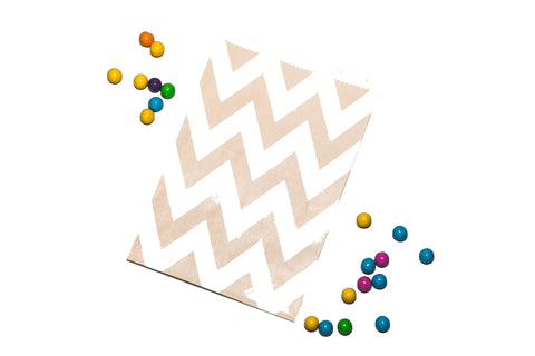 Tan Chevron Favor Bag (set of 20)