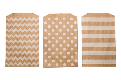 Patterned Kraft Favor Bag (set of 30)