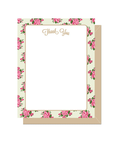 Victorian Floral Thank You Notecards (Set of 10)