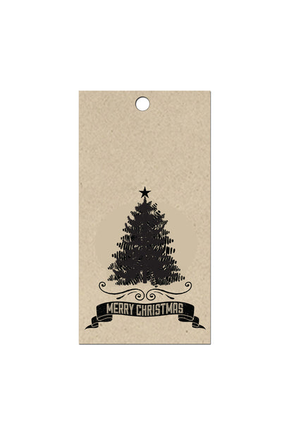 Vintage Tree Holiday Gift Tags (Pack of 10)