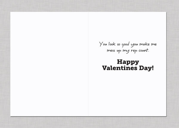 Crossfit Paleo Workout Athlete Valentines Day Card