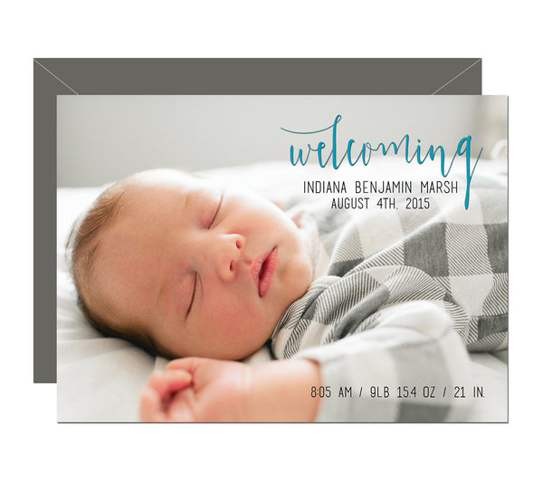 Welcoming Birth Announcement