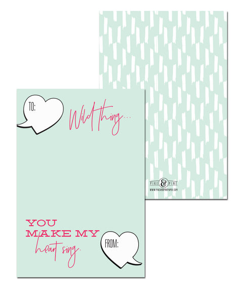 Wild Thing Valentines Cards (Set of 15)