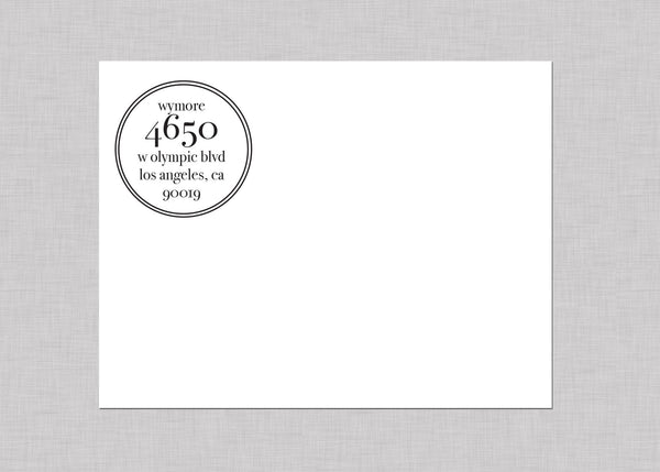 Modern Design Custom Self-Inking Address Stamp