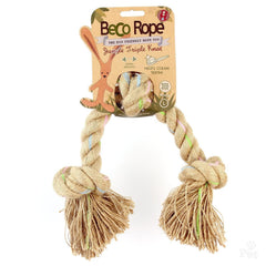 Beco Pets Hemp Rope Triple Knot