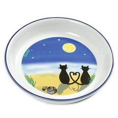 Flamingo Cat & Moon Feeding Bowl