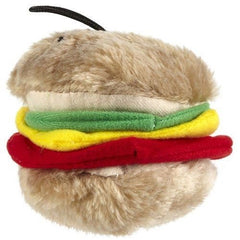 Aspenpet Plush Hamburger Dog Toy