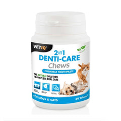 VetIQ 2in1 Denti-Care Chews For Cats & Dogs