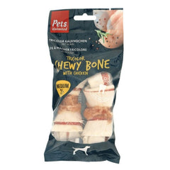 Pets Unlimited Tricolor Chewy Bone With Chicken