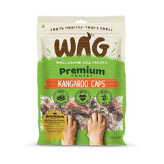 Wag Premium Cuts Kangaroo Caps Dog Treats