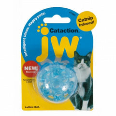 JW Cataction Lattice Ball Catnip Infused Cat Toy