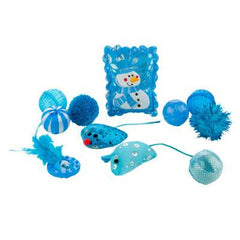 Grreat Choice Snow themed Cat Toys (11 toys)