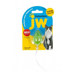 JW Cataction Mouse With Bell & Tail Catnip Toy