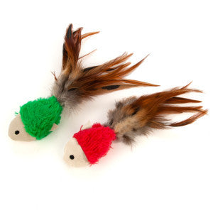 KONG® Crinkle Fish With Feather & Catnip