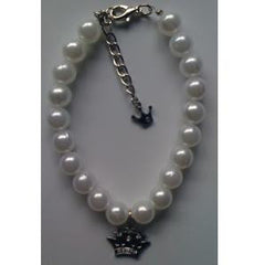 Pearl Necklace with Crown Pendant