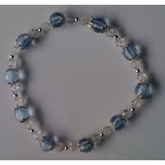 Crystal Necklace - Blue & Transparent