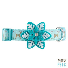 Martha Stewart Pets Blue Snow Flake Collar S - L