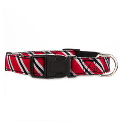 Top Paw® Red & Silver Stripe Adjustable Collar