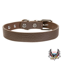 Bret Michaels Pets Brown Leather Collar S