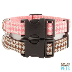 Martha Stewart Pets™ Houndstooth Collar Brown