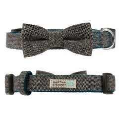 Martha Stewart Pets™ Bow Tweed Collar Grey