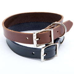 Grreat Choice Leather Buckle Collar Brown