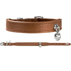 Hunter Elk Leather Collar Crystal Love