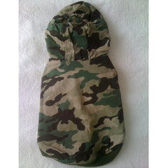 Green Army Camouflage Jacket with Hoodie (M)