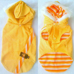 Yellow Reversible Jacket & Detachable Hoodie S - XXL