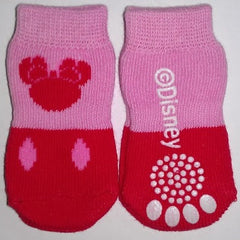 Disney Mickey Mouse Pink & Red Socks