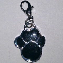 Black Paw Shaped Charm Pendant