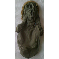 Green Fluffy Jacket With Detachable Hoodie XL