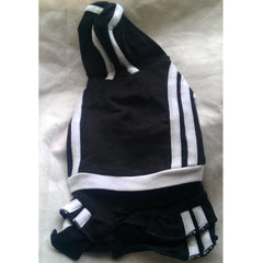 Soft Black Sporty Top & Detachable Skirt XS - XXL