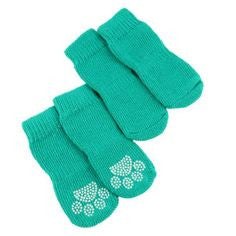 Grreat Choice Paw Socks Set Aqua Small
