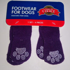Grreat Choice Paw Socks Set Purple Small