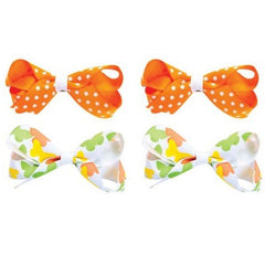 Grreat Choice Butterfly Print Hair Bows 2 Sets