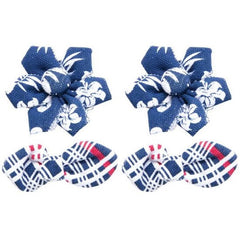 Tommy Bahama Blue Hibiscus Hair Bows 2 Sets