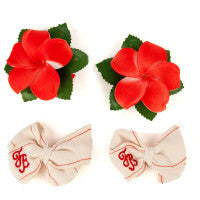 Tommy Bahama Hibiscus Hair Bows 2 Sets