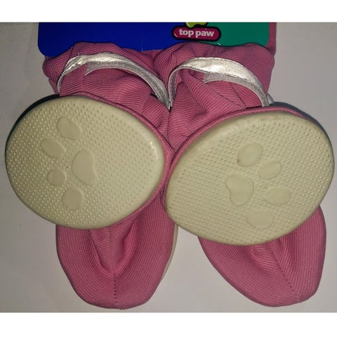 Top Paw Light Dog Booties Pink