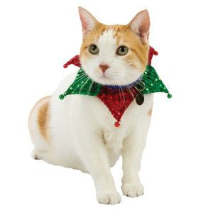 Whisker City Red & Green Neckwear With Bells