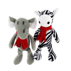 Grreat Choice Pet Plush Zebra & Elephant