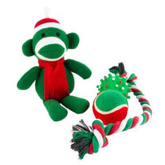 Grreat Choice Sock Monkey Toy Pack (4 Toys)