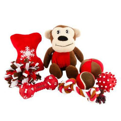 Grreat Choice Fleecy Monkey Toy Pack (8 Toys)