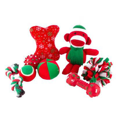 Grreat Choice Red Sock Monkey Toy Pack (8 Toys)