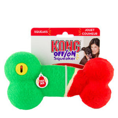 Kong Off On Squeaker Dog Toy Bone Large