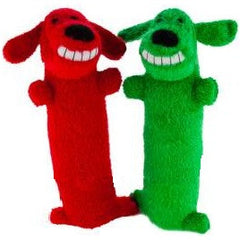 Grreat Choice Squeaky Dog Red & Green (2 Toys)